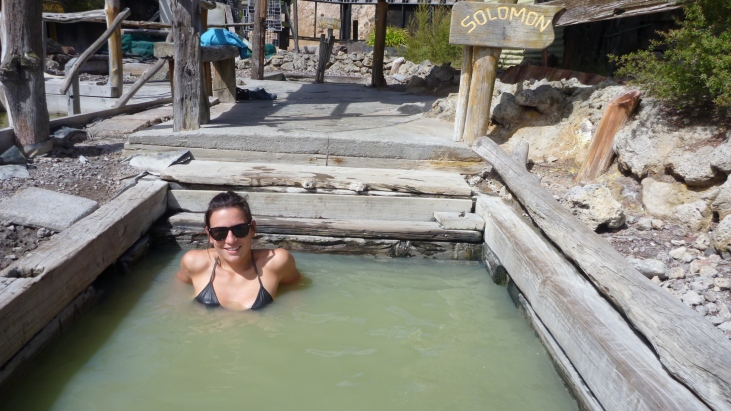 Curniss at the Ngawha hot springs