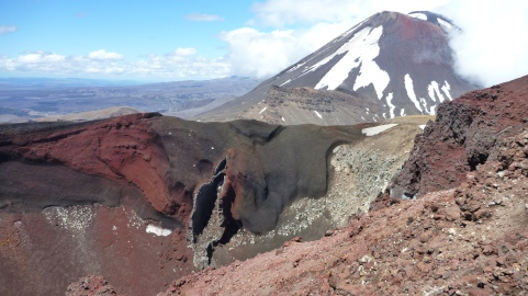 Red Crater and Mount Ngauruhoe in the distance