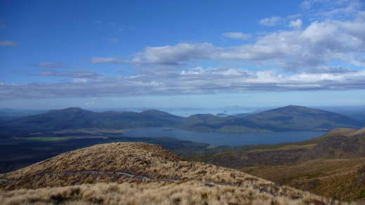 Views on the north side of the Tongariro Alpine Crossing