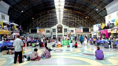 Bangkok train and bus station
