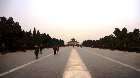 Huge boulevard at the Temple of Heaven