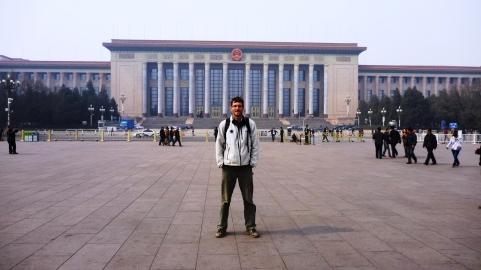 Chris in Tiananmen Square