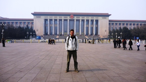 Chris in Tiananmen Square