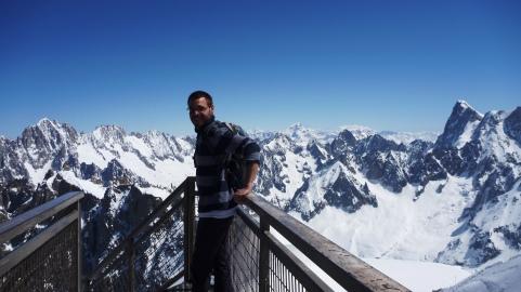 Garrin at l'Aiguille du Midi