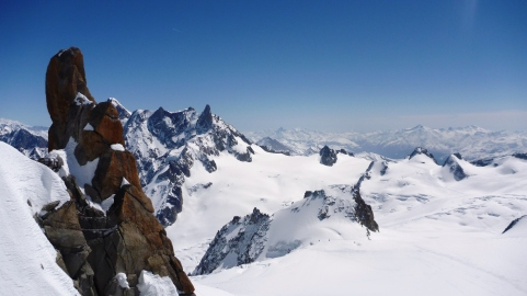 View of the alps from l'Aiguille du Midi