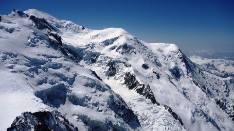View of Mont Blanc from l'Aiguille du Midi