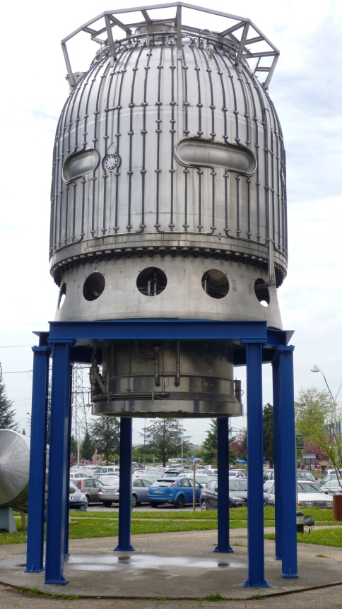 Parts of the original particle collider