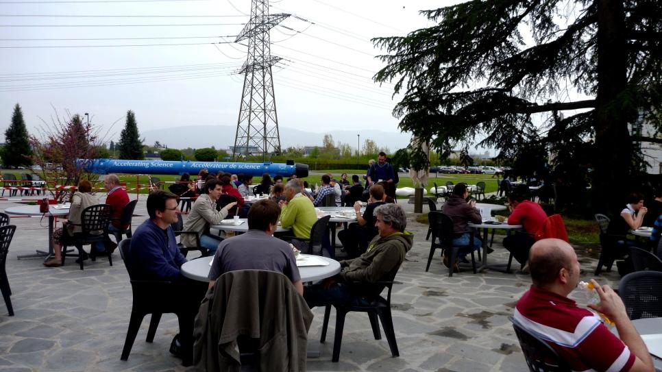 The CERN terrasse
