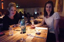 Treating ourselves to a nice meal in Akureyri