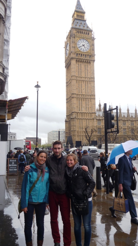Curniss, Benoit and Barbara in front of the Big Ben