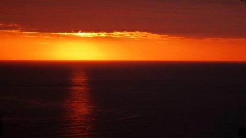Sunrise over the Mediteranean