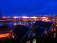 Húsavík harbour at 11:30 pm (in May)