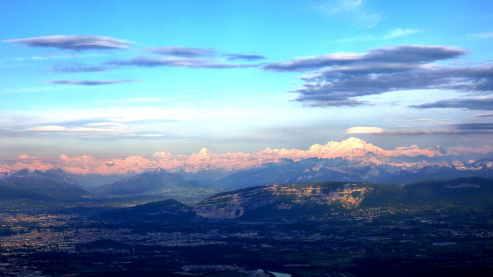 Alps from the Jura Mountains
