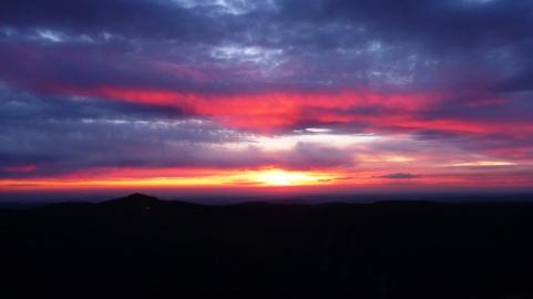 Beautiful sunset from the Jura Mountains