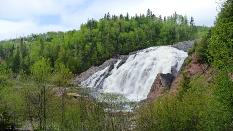 Waterfalls near the town of Wawa
