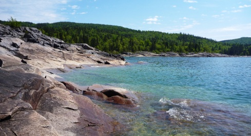 The Lake Superior coast at Neys Provincial Park