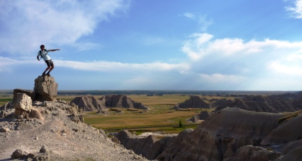 Chris posing in the Badlands National Park