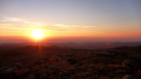 Sunrise while hiking, Bighorn Mountains