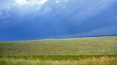 Dramatic skies in Wyoming