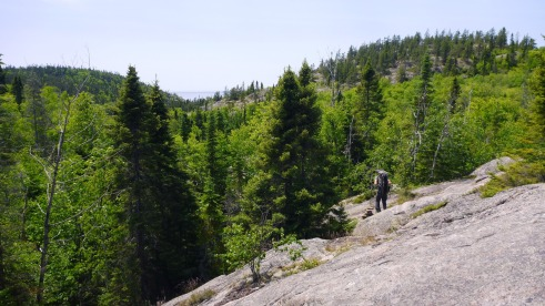 Inland portion of the Pukaskwa Coastal Trail