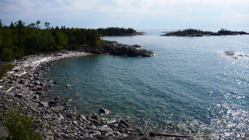 One of many coves along the Pukaskwa Coastal Trail