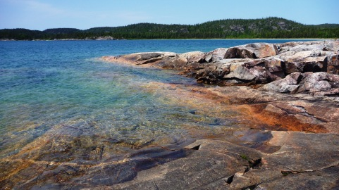 The beautiful shore of Lake Superior