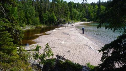 A white sand lagoon