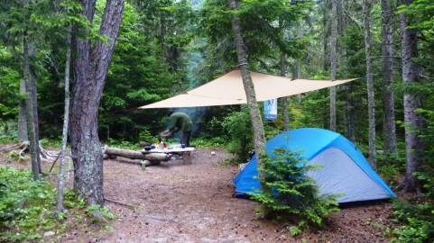 Our camp at Fisheman's Cove