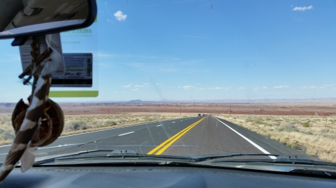 A typical view driving in northern Arizona