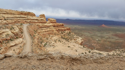 The impressive Moki Dugway (part of State Route 261)