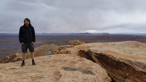 Chris at Muley Point