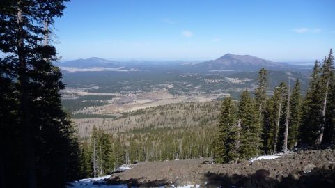 View from the flank of Mount Humphery