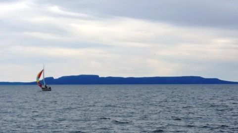 The Sleeping Giant from the water