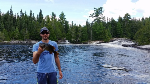 Chris and a smallmouth bass