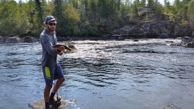 Chris with a pickerel