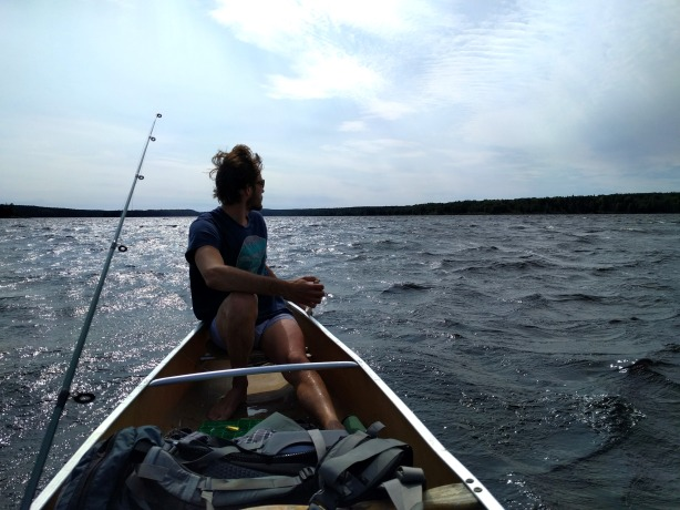 A strong backwind on Little Metionga Lake