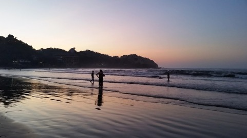 Playa de Sayulita at sunset