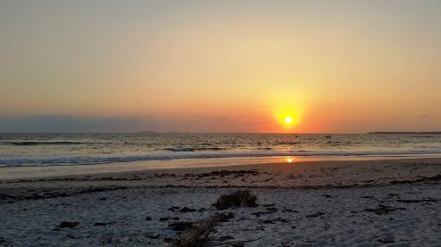 Playa La Lancha at sunset