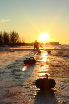 Curling 'till the sun goes down