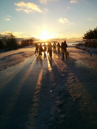 Sunset on the rink