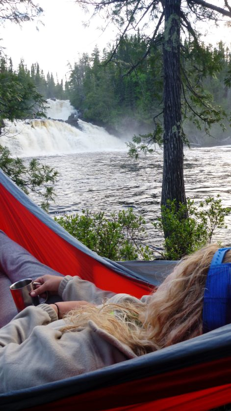 We took turns sipping wine in the hammock and looking onto the waterfalls