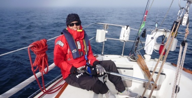 Curniss at the helm