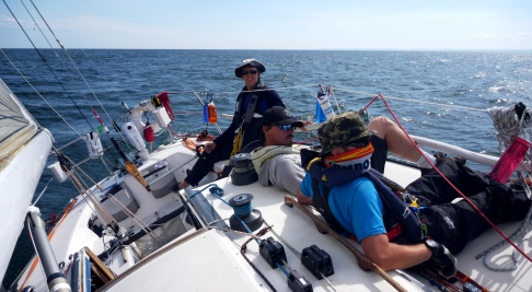 Bob happy as a calm sailing towards the finish line