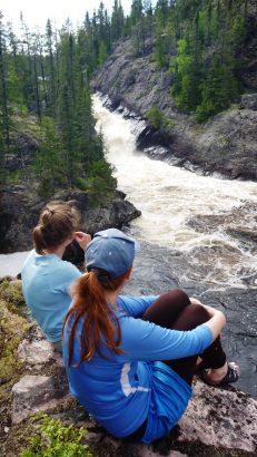 Meghan and Eleanor enjoying more waterfall views